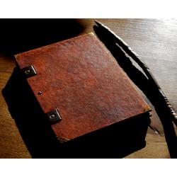 Grimoire papier ciré imitation vieux cuir