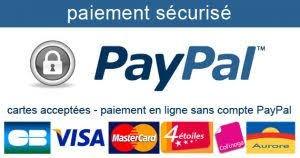 Paiement sécurisé SSL PAYPAL et CB